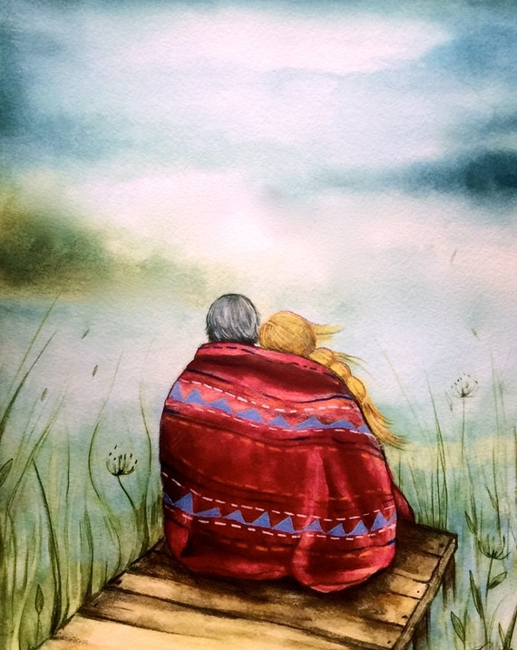 The red blanket art print