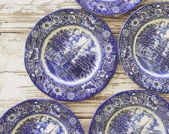 Liberty Blue Ironstone Transferware Collection || Farmhouse Style || Farmhouse Fresh || Shabby Chic || Vintage Style || Transferware Plate |