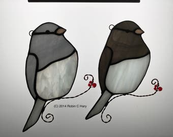 Junco Stained Glass Sun Catcher