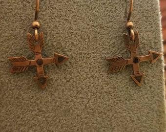 Vintage copper friendship earrings.