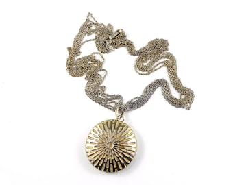 Gold necklace, vintage costume jewellery, Trifari necklace, statement necklace, round gold necklace, 1960s necklace.
