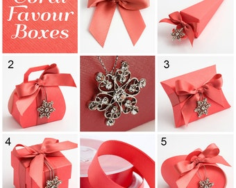 Coral Favour Boxes | Coral Wedding Favor Gift Box