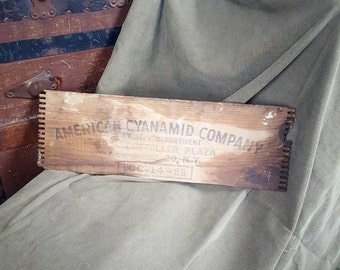 American Cyanamid Company Explosives Dept. Wood Crate Panel