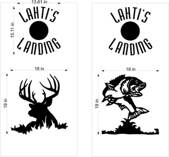 deer buck and bass fishing cornhole board decals stickers wrap