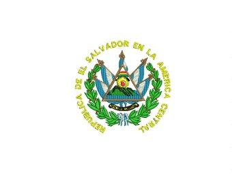 El Salvador, El Salvador shield, El Salvador national emblem, emblem El Salvador, embroidery design