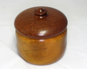 Hand-Turned Lidded Box - Osage Orange and Sapele Wood