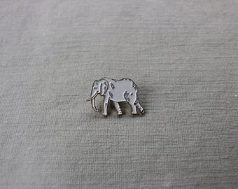 Enamel Elephant Pin (black trim)