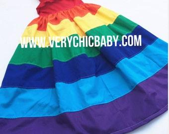 Rainbow Dress, Rainbow Dress Girls, Rainbow Maxidress, Rainbow Maxidress Girls, Rainbow Maxi, Rainbow Dress Maxi