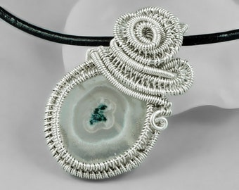 Solar Quartz and Sterling Silver Necklace - CLEARANCE