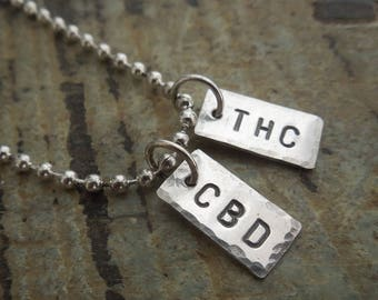 Entourage Effect THC CBD Sterling Silver Pendant Necklace - Parents 4 Pot fundraiser benefit
