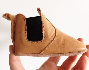 Leather Aussie Work Bootie baby shoes