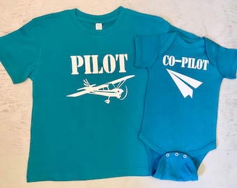 Pilot Paper Airplane Co-pilot Family Pick your Aviation and color
