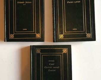 Set of 3 Italian Books
