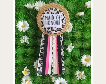 Maid Of Honor Hen Party Rosette Badge