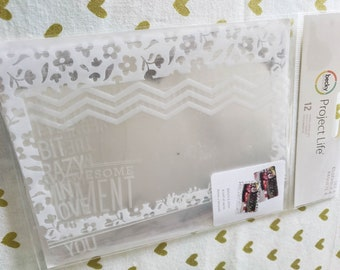 Project Life - Becky Higgins - Photo Overlays - 12 Pieces Per Package - Set Number 4