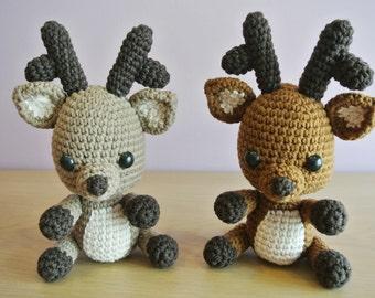 Rudy Crochet Deer Amigurumi - Handmade Crochet Amigurumi Toy Doll - Woodland Animal - Deer Crochet - Amigurumi Deer