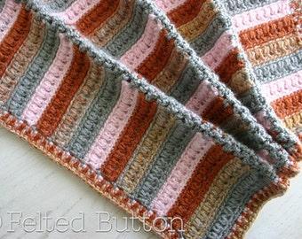 Crochet Pattern, Arlington Blanket, Baby, Afghan, Throw