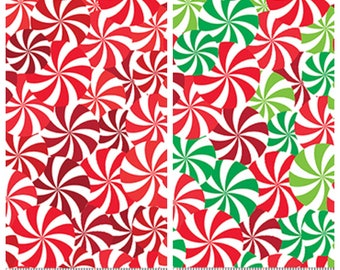 Peppermint candies Christmas novelty fabric - [[by the half yard]]