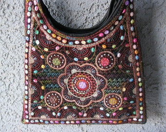 Embroidered Beaded Purse/Handbag