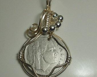 Italy  Coin Pendant 1940