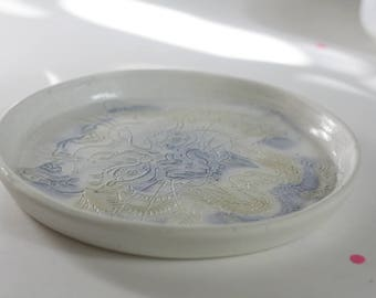 Tiger japanese tattoo plate - porcelain plate