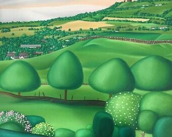 Custom Art Commission, Medium Size, Landscape, Original Oil Painting
