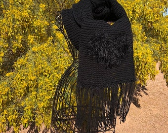 Every Day, Two Tone,  Black Sparkle Hearth Scarf