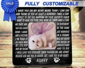 Pet Loss, Pet Memorial, Memorial Frame, Pet Memorial Frame, Cat Loss, Cat Memorial, Loss Of Cat, Pet Sympathy Gift, Pet Loss Frame, Fur Baby