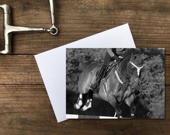 Show Jumping Card | Jumper | Horse Card | Greeting Card | Note Card | Blank Card | Horse Lover