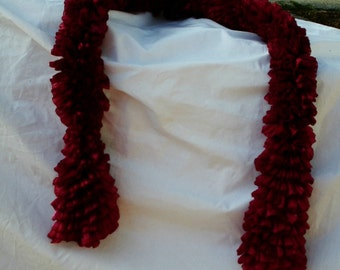 Red, sparkly ripple scarf