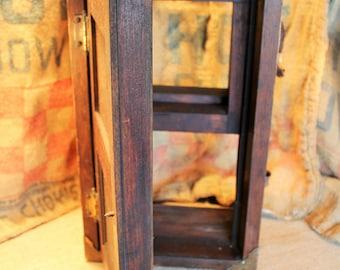 Salesman Sample Door Window Solid Wood   Working Functional Display    Vintage Store Sample Model