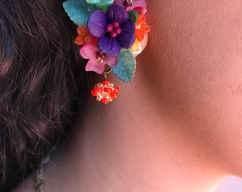Petunia Pretty Beaded Earring by COLLEEN TOLAND