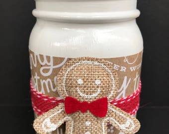 Gingerbread Man Mason Jar