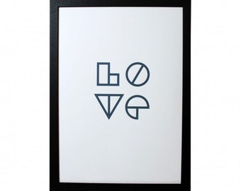 Screen print A3 limited edition. Wooden frame
