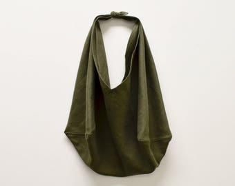 Everyday Linen Bag - Farmers Market Bag - Carryall Bag - Reusable Bag - Tote Bag - Origami Bag - Bento Bag - Azuma Bukuro - Size Medium