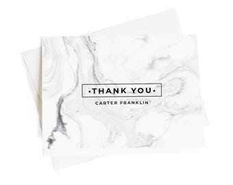 Personalized Thank You Cards, Business Thank You Notes, Set Of 10, Thank You