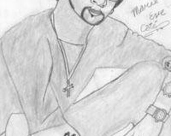 "Portrait Shading HB Pencils - Backstreet Boys A.J. Mclean - Small Art, 8"" x 11"" regular paper Sketch"