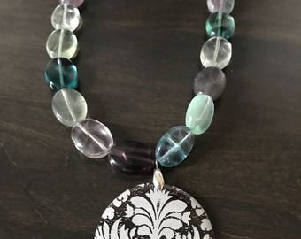Floral Flourite Necklace