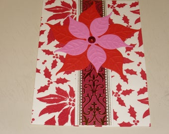 Christmas Red Poinsettia Card