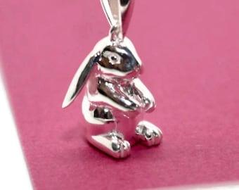 Rabbit Necklace, Bunny Rabbit Jewellery, Sterling Silver Rabbit, Bunny Gift, Rabbit Lover Gift, Animal Lover Gift, Animal Jewellery, Animals