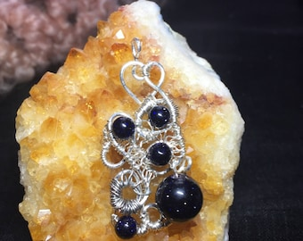 Hearts of Blue goldstone