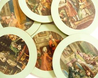 Retro Coasters Green Framed Historic Art
