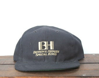 Vintage 90's Benson And Hedges Cigarettes Tobacco Take The Edge Off Snapback Hat Baseball Cap