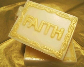 Faith, Hope, Love Soap/Goat Milk Honey Soap/Glycerin Soap/Handmade Soap/Homemade Soap/Natural Soap/Mild Soap/Hand Soap/Bath Soap/Bar Soap