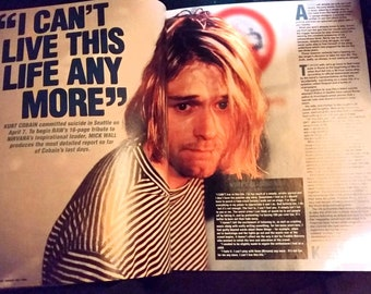Nirvana 1994 Magazine **Kurt Cobain Cover and Tribute for April/May 1994 Raw Magazine Vintage Import 90's  **Articles, Pictures and Pullouts