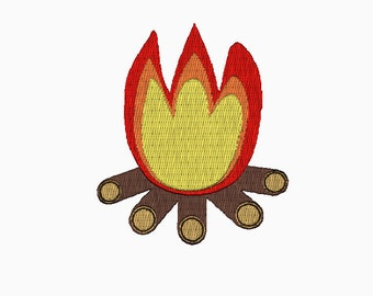 INSTANT DOWNLOAD Campfire embroidery design