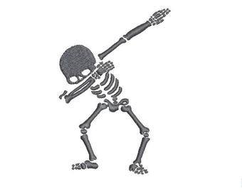 16 Sizes Dab Skeleton Dabbing Skeleton Silhouette Boy Design Embroidery Fill Machine Instant Download Digital File EN2102F2