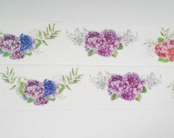 Design Washi tape Flower Hydrangea purple Blue