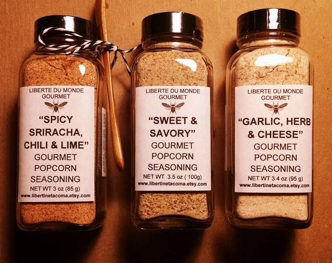 Custom Gourmet Popcorn Seasonings