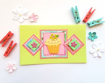 Favorite Things Cupcake and Flower Card